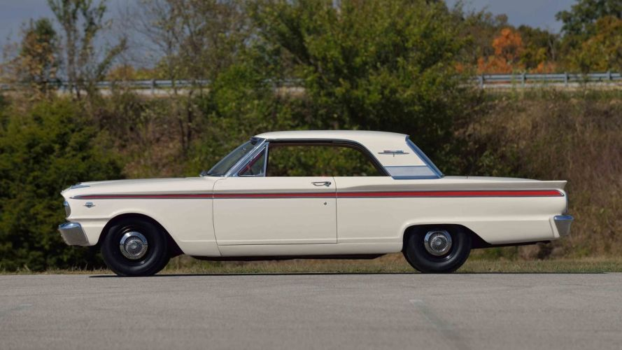 1963 FORD FAIRLANE 500 SPORTS COUPE cars white wallpaper