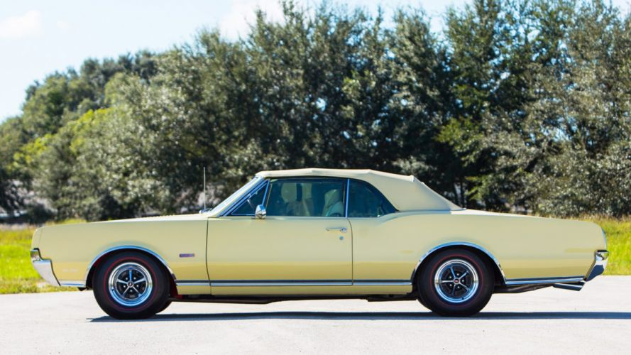 1967 OLDSMOBILE 442 CONVERTIBLE cars yellow wallpaper