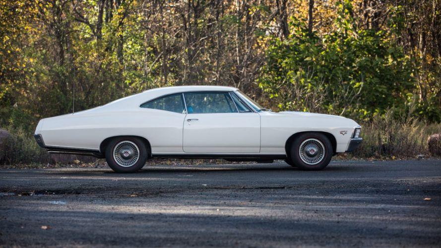 1967 CHEVROLET IMPALA (SS) cars white wallpaper