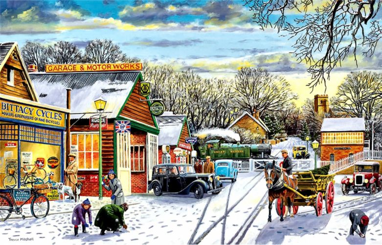 Winter Service Station wallpaper
