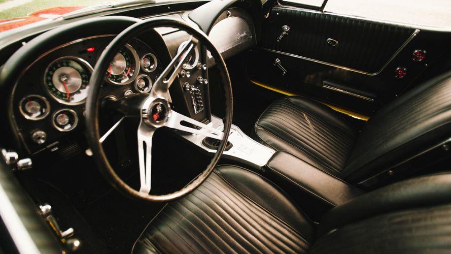 1963 CHEVROLET CORVETTE (c2) CONVERTIBLE cars red 327 wallpaper