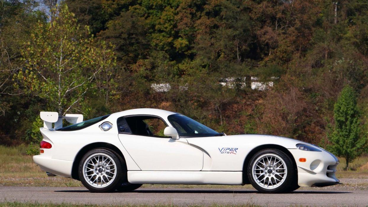 1998 DODGE VIPER GTS-R cars white wallpaper