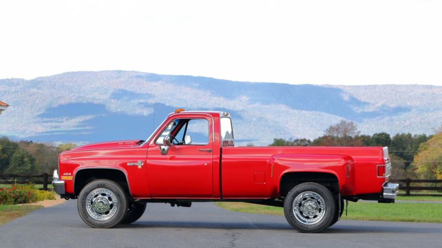 1988 CHEVROLET K30 DUALLY PICKUP truck red wallpaper