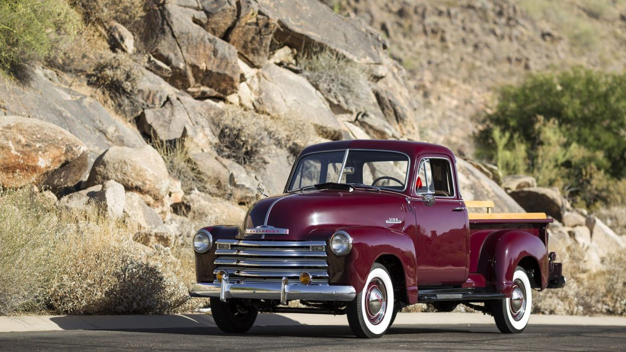 1953 CHEVROLET 3100 5-WINDOW PICKUP truck Burgundy wallpaper