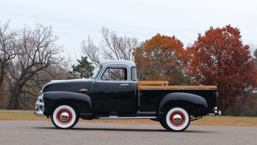 1954 CHEVROLET 3100 5-WINDOW PICKUP truck black wallpaper
