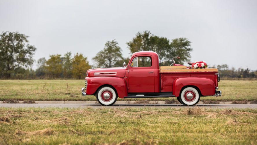 1950 FORD-F1 PICKUP truck red wallpaper