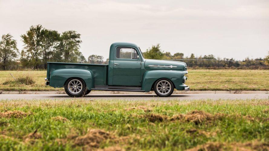 1952 FORD-F1 PICKUP truck green wallpaper