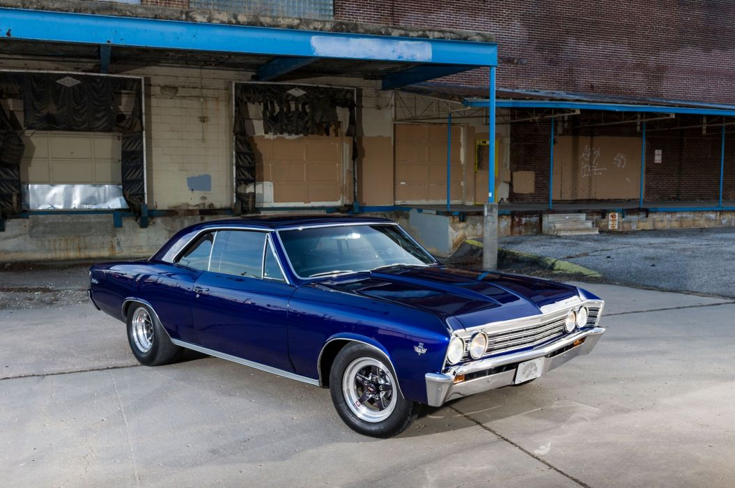 1967 Chevrolet Chevelle Malibu cars blue wallpaper