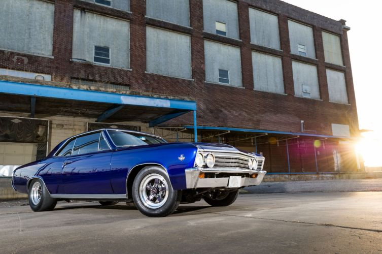 1967 Chevrolet Chevelle Malibu cars blue wallpaper