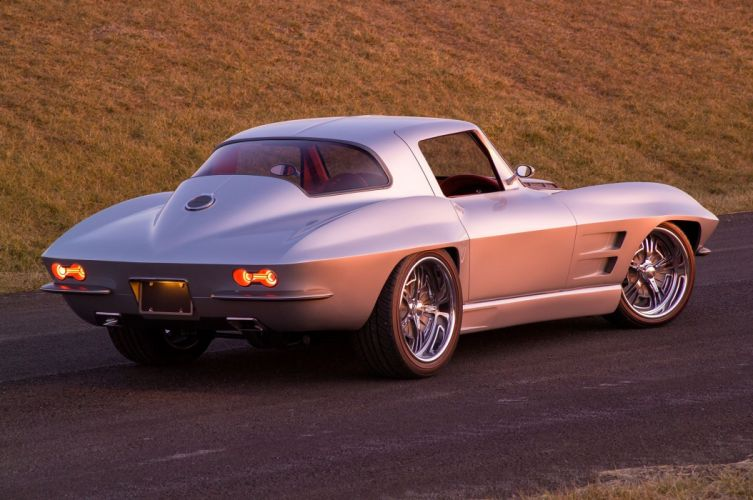 Custom 1964 chevy Corvette (c2) cars wallpaper