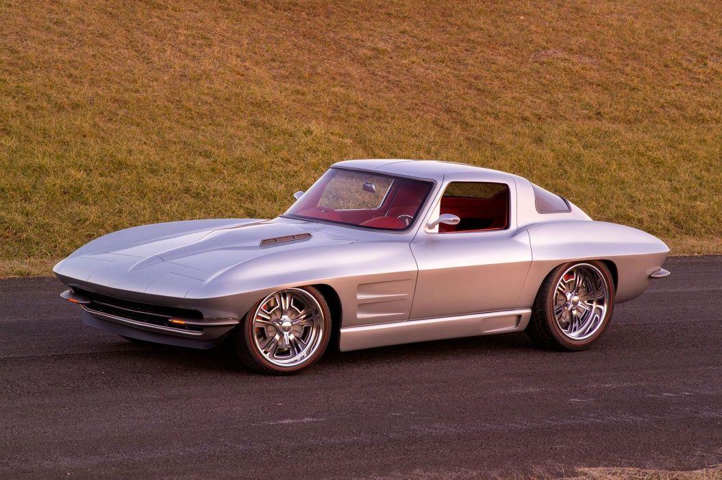 Custom 1964 chevy Corvette (c2) cars wallpaper
