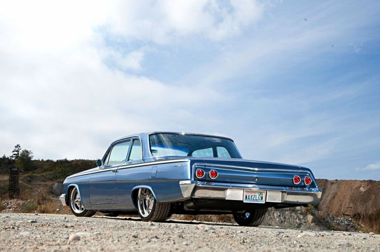 1962 Chevy Bel Air cars blue resto-mod wallpaper