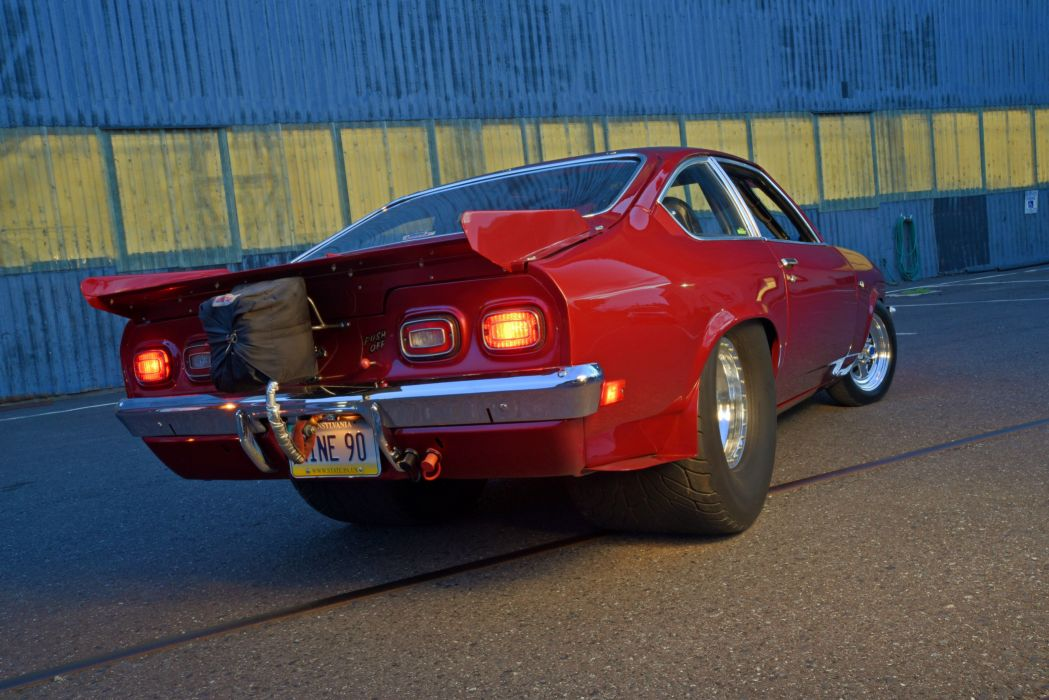 1973 Drag Race chevy Vega cars red wallpaper