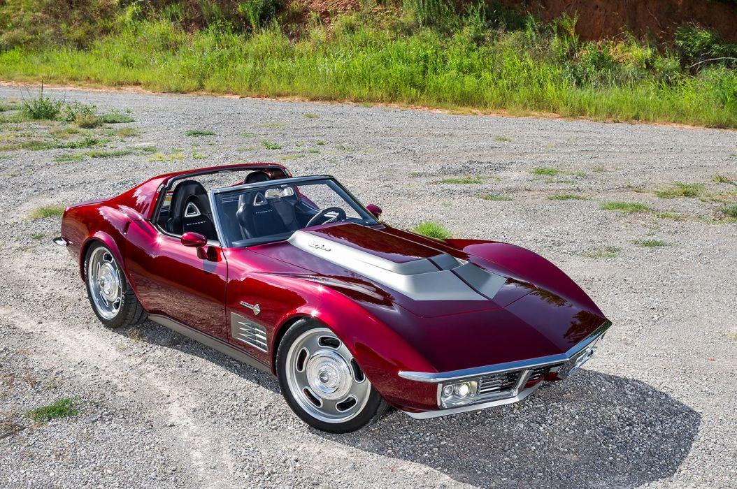 1971 chevy Corvette (c3) cars modified wallpaper