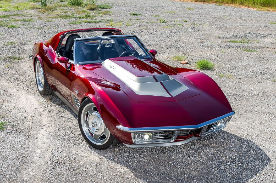 1971 chevy Corvette (c3) cars modified wallpaper