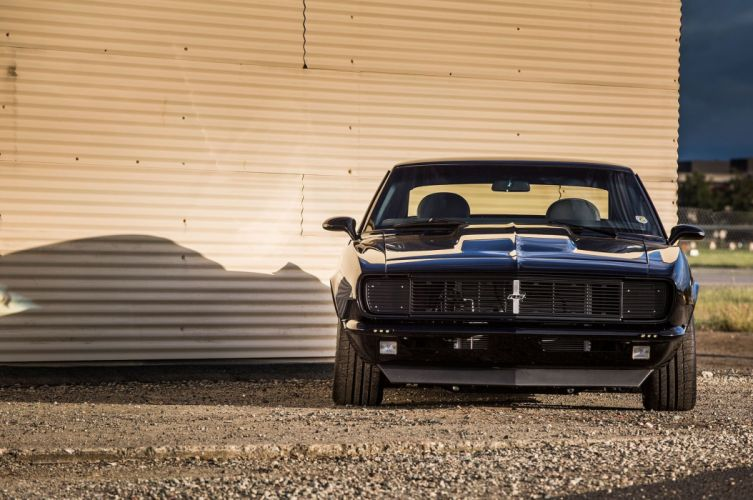 1968 Pro Touring chevy Camaro cars black wallpaper