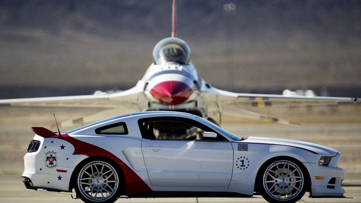 Ford Mustang GT U S Air Force Thunderbirds wallpaper