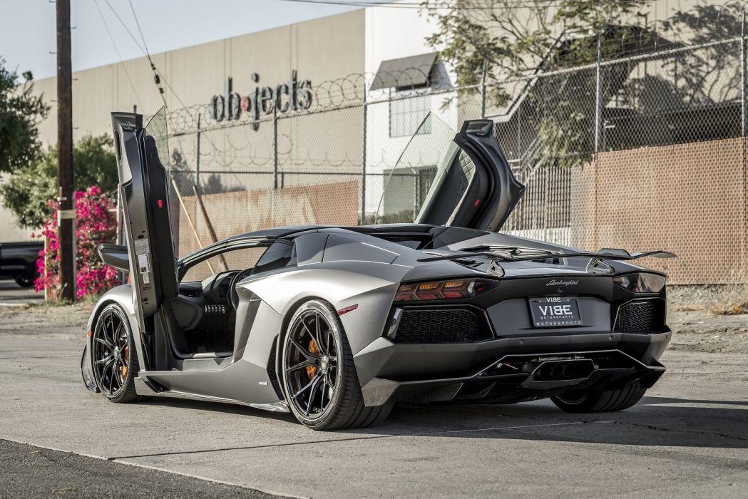 Vorsteiner Lamborghini Aventador-V Roadster Zaragoza (LB834) cars modified supercars 2014 wallpaper