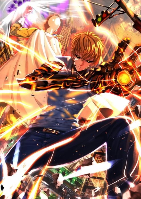 Genos One Punch Man anime characters wallpaper