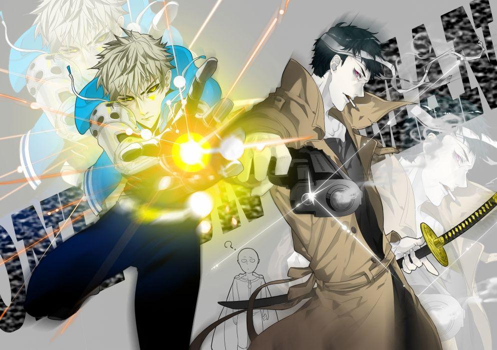 anime Genos One Punch Man Saitama Zombie Man wallpaper