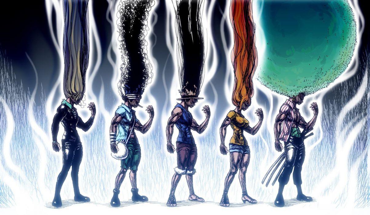 One Piece Anime Roronoa Zoro Nami Monkey D Luffy Usopp Sanji