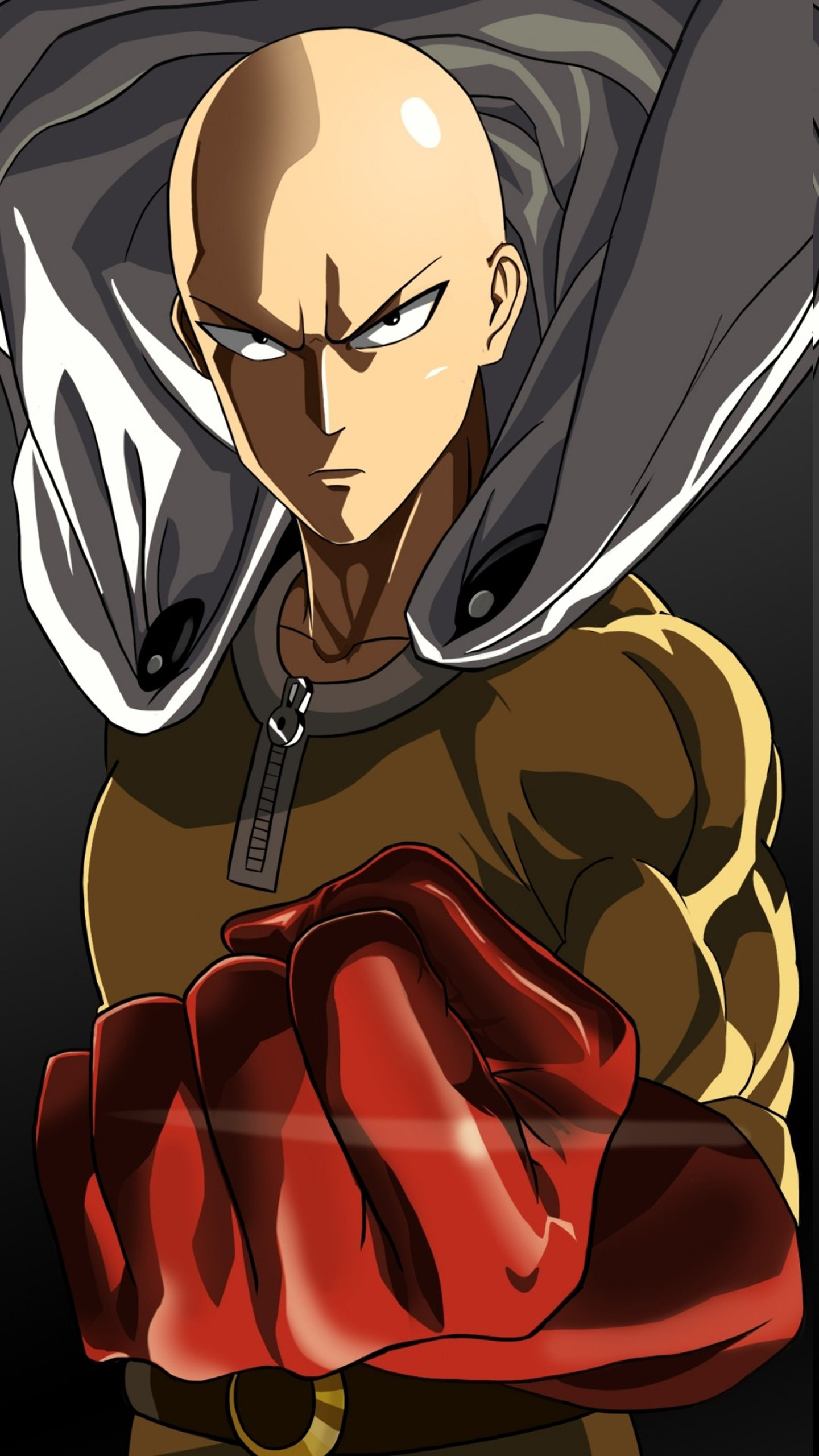 anime gloves one punch man saitama wallpaper 1440x2560 1043546 wallpaperup