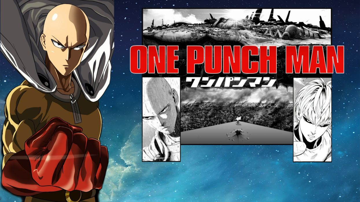 One Punch Man Saitama anime wallpaper