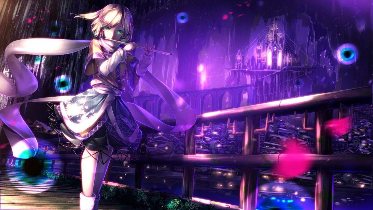 Anime Girls castle Flute Mizuhashi Parsee touhou wallpaper