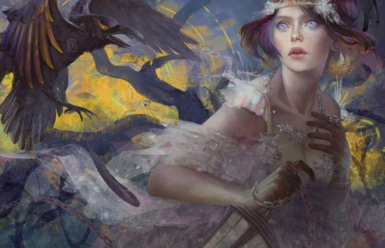 woman artwork fantasy Art wallpaper