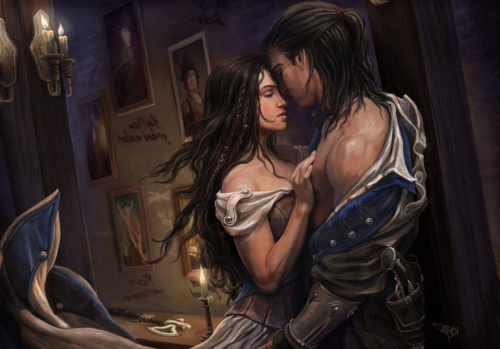 Assassins Creed fantasy games Girls love men mood couple  wallpaper