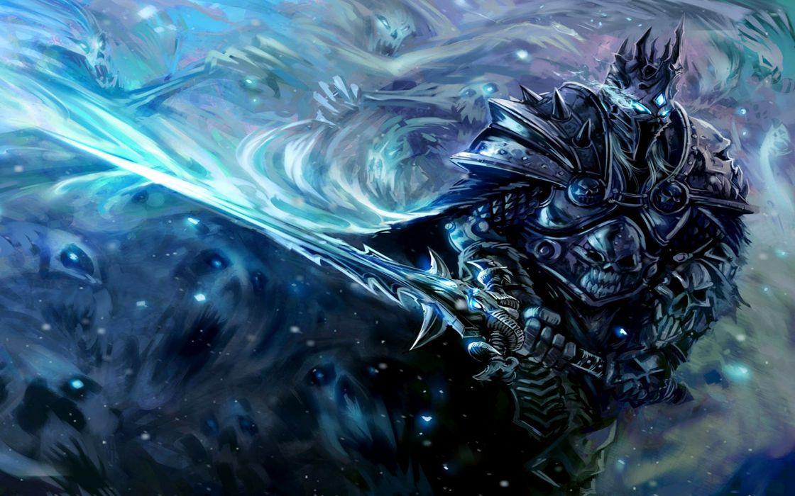 armor art arthas artwork fantasy games king lich king swords video warcraft world of warcraft wallpaper