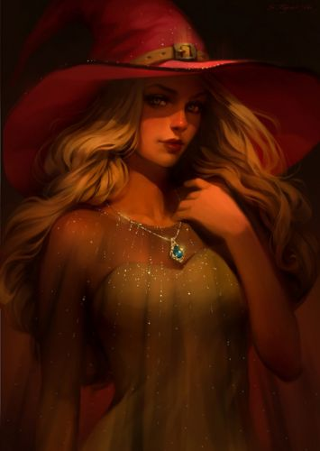 svetlana-tigai-rin fantasy art beauty woman witch original wallpaper