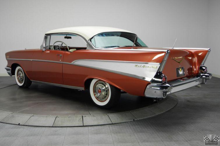 1957 Chevrolet BelAir gold 2 wallpaper