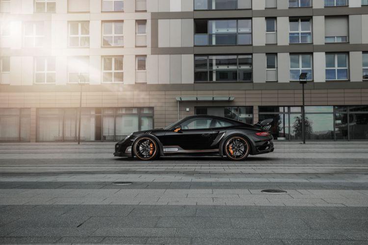 TechArt Porsche 911 Turbo GT-Street-R (991) cars black modified 2016 wallpaper