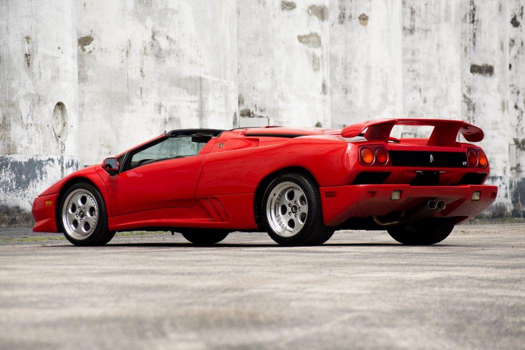 Lamborghini Diablo (VT) Roadster cars supercars red 1995 wallpaper