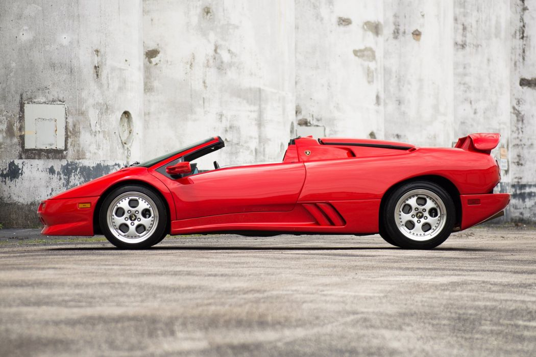 Lamborghini Diablo (VT) Roadster cars supercars red 1995 wallpaper