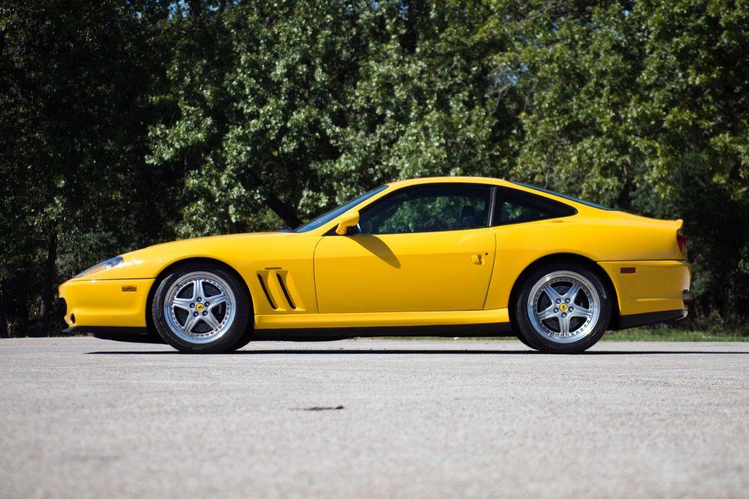 Ferrari 550 Maranello cars coupe yellow 1996 wallpaper