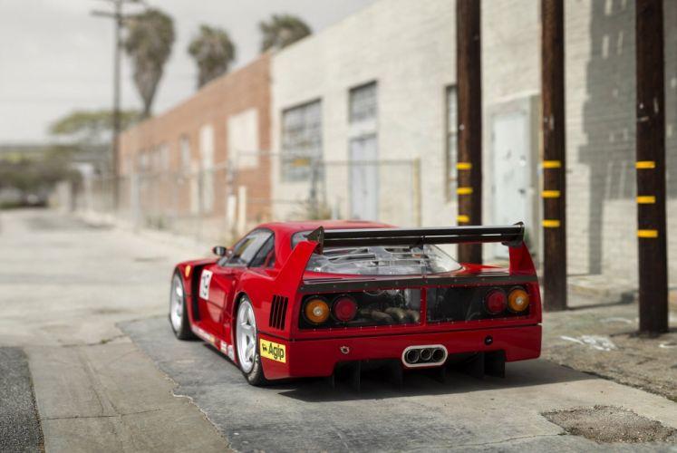 Ferrari F40-LM Michelotto cars racecars red 1988 wallpaper