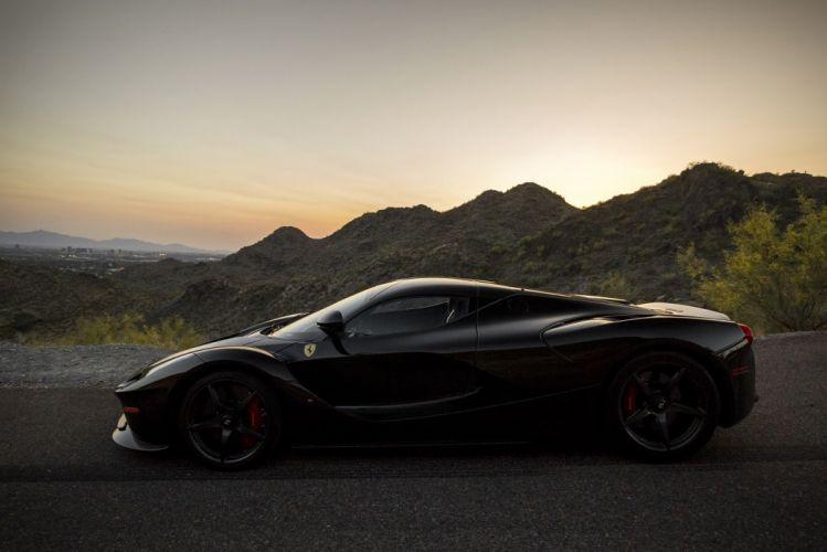 ferrari LaFerrari cars supercars hypercars black 2013 wallpaper