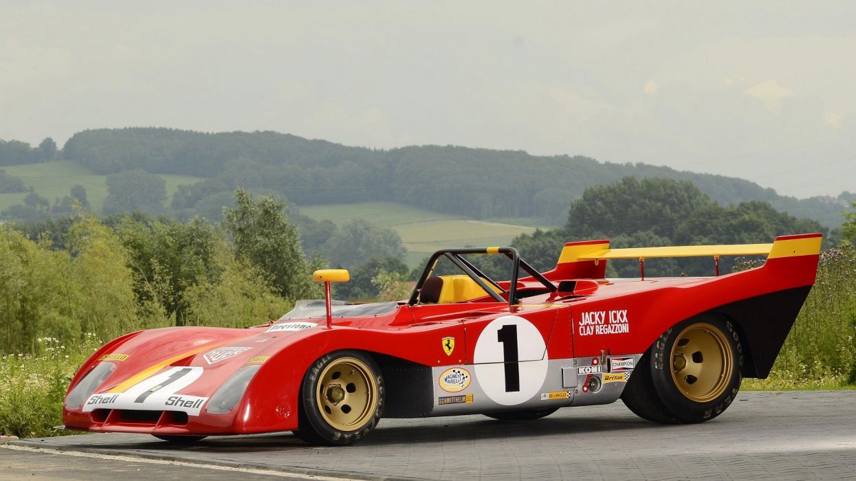Ferrari 312P cars racecars 1972 wallpaper