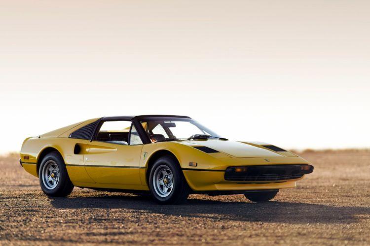 Ferrari 308 GTS cars yellow 1977 wallpaper