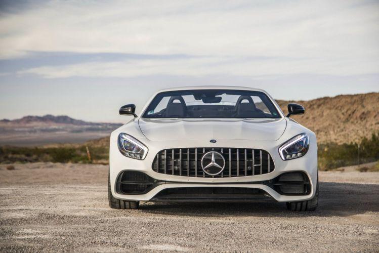 Mercedes AMG (GT) Roadster (R190) cars white 2016 wallpaper