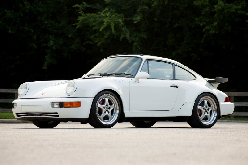 Porsche 911 Turbo (3 6) Coupe (964) white 1992 wallpaper
