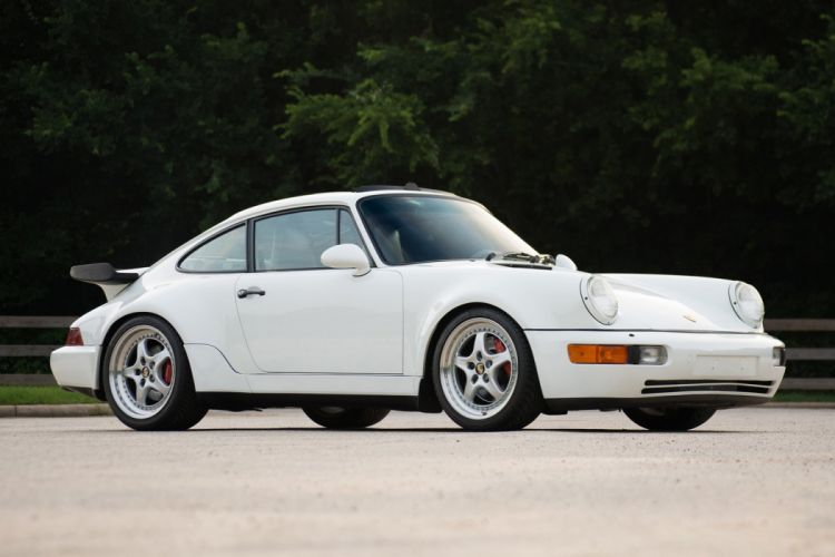 Porsche 911 Turbo (3 6) Coupe (964) white 1992 wallpaper