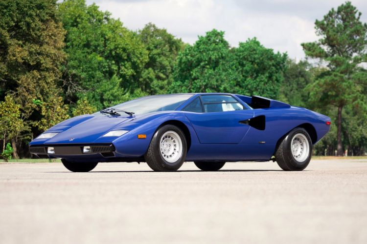 Lamborghini Countach LP400 cars supercars blue 1974 wallpaper