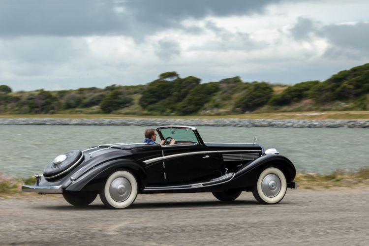 Maybach SW38 Sport Cabriolet cars classic black 1938 wallpaper