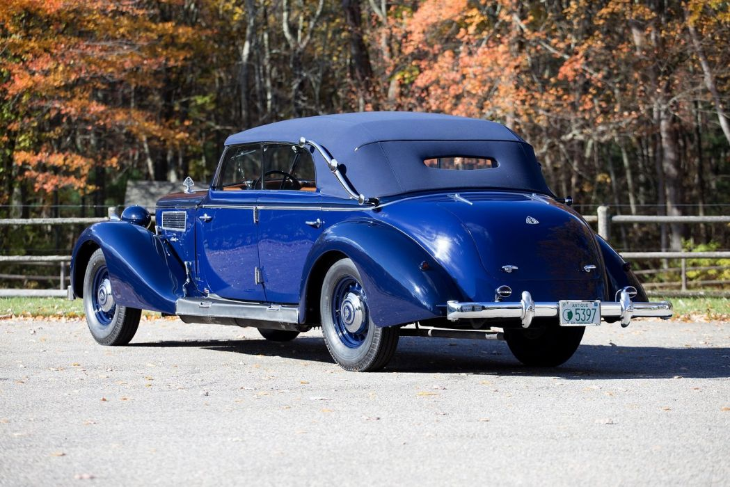 Maybach SW38 Cabriolet cars classic blue 1938 wallpaper