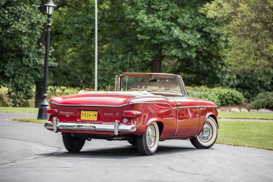 1960 Studebaker Lark-VI Regal Convertible cars classic red  wallpaper