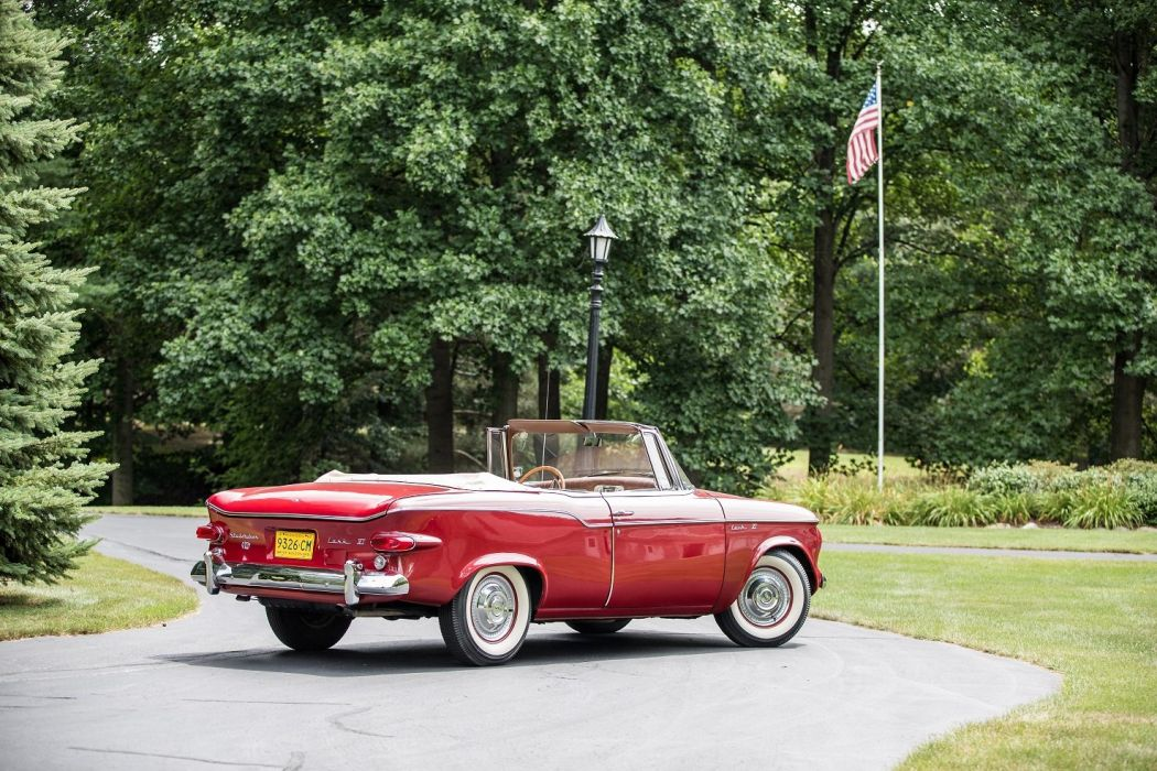 1960 Studebaker Lark-VI Regal Convertible cars classic red  wallpaper