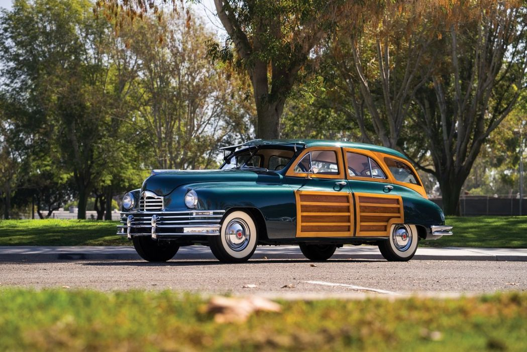 1949 Packard Standard Eight Station Sedan cars green classic  wallpaper